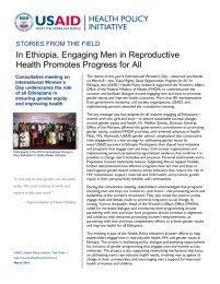 In Ethiopia, Engaging Men in Reproductive Health Promotes Progress for All