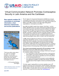 Virtual Communication Network Promotes Contraceptive Security in Latin America and the Caribbean