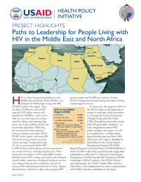 Paths to Leadership for People Living with HIV in the Middle East and North Africa: Project Highlights (Brief)