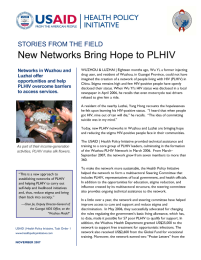 New Networks Bring Hope to PLHIV (China)