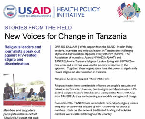 New Voices For Change in Tanzania