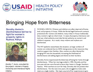 Bringing Hope From Bitterness (Kenya)