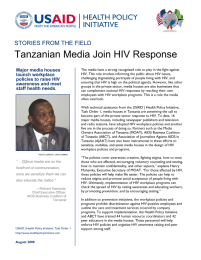 Tanzanian Media Join HIV Response