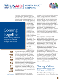 Coming Together: Health Policy Initiative Helps PLHIV Build Stronger Networks