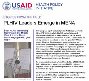 PLHIV Leaders Emerge in MENA