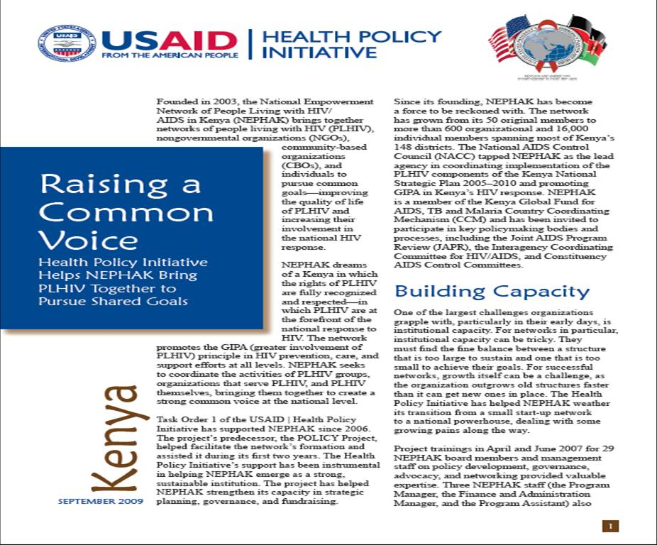 Raising a Common Voice: Health Policy Initiative Helps NEPHAK Bring PLHIV Together to Pursue Shared Goals