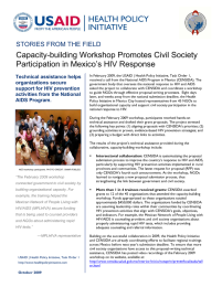 Capacity-building Workshop Promotes Civil Society Participation in Mexico's HIV Response