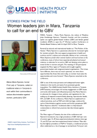 Stories from the Field: Women leaders join in Mara, Tanzania to call for an end to GBV