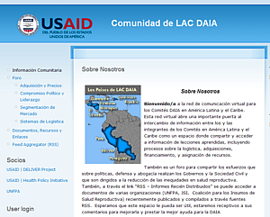 The LACDAIA site hosted by Communities at USAID