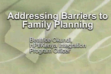 Kenya: Addressing Barriers to Family Planning