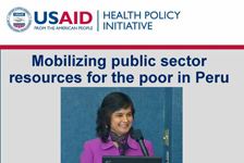 Mobilizing Public Sector Resources for the Poor in Peru