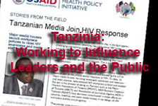 Tanzinia: Working to Influence Leaders and the Public